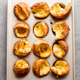 cheese popovers in a muffin pan