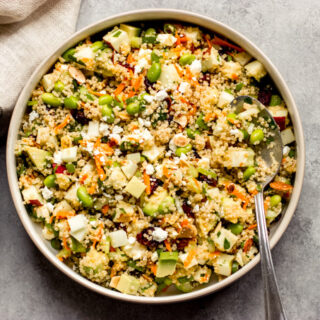 quinoa salad with apples