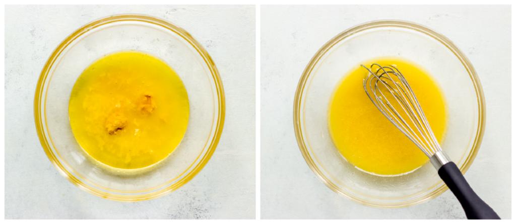 citrus vinaigrette in a bowl